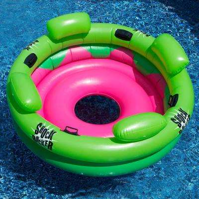 72 in. Green/Pink ShockRocker Pool Float