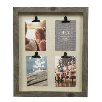 Gallery 14 in. x 18 in. Charcoal Collage Clip Picture Frame