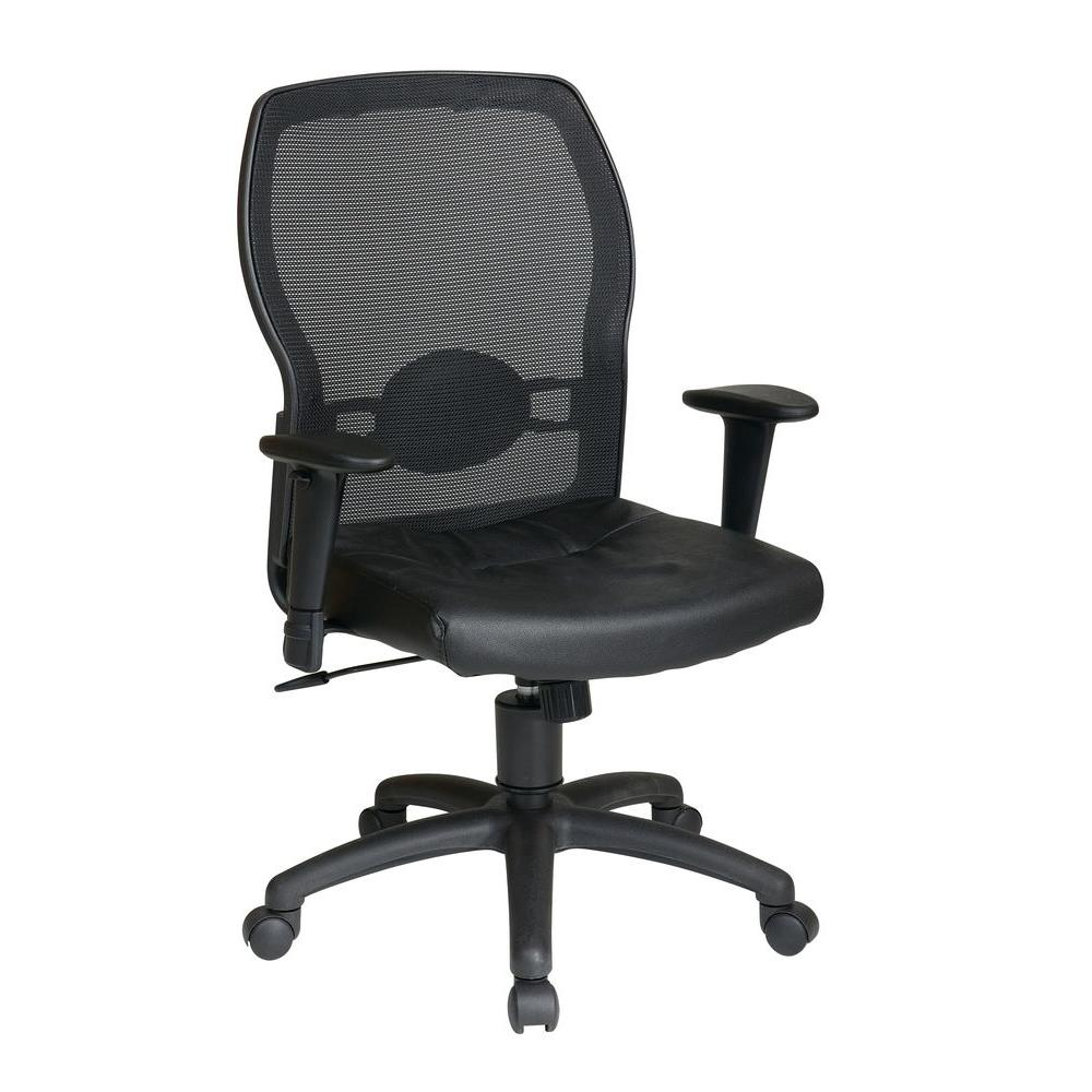 work smart black office chair 599402 the home depot