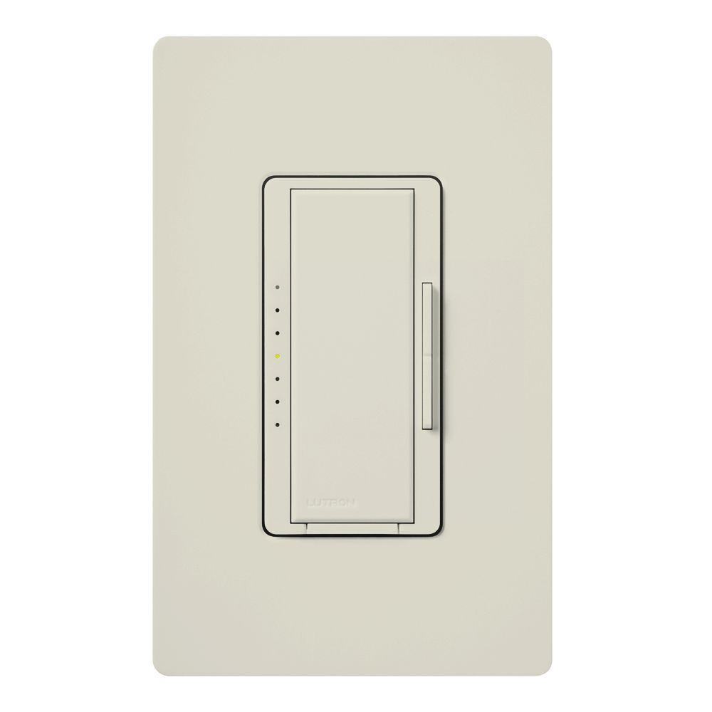 Maestro 600-Watt Multi-Location Electronic Low-Voltage Digital Dimmer - Light Almond