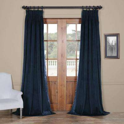 Blackout Signature Midnight Blue Pleated - 25 in. W x 120 in. L (1 Panel)