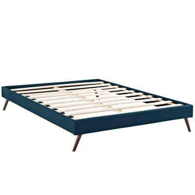Loryn Azure Full Bed Frame with Round Splayed Legs