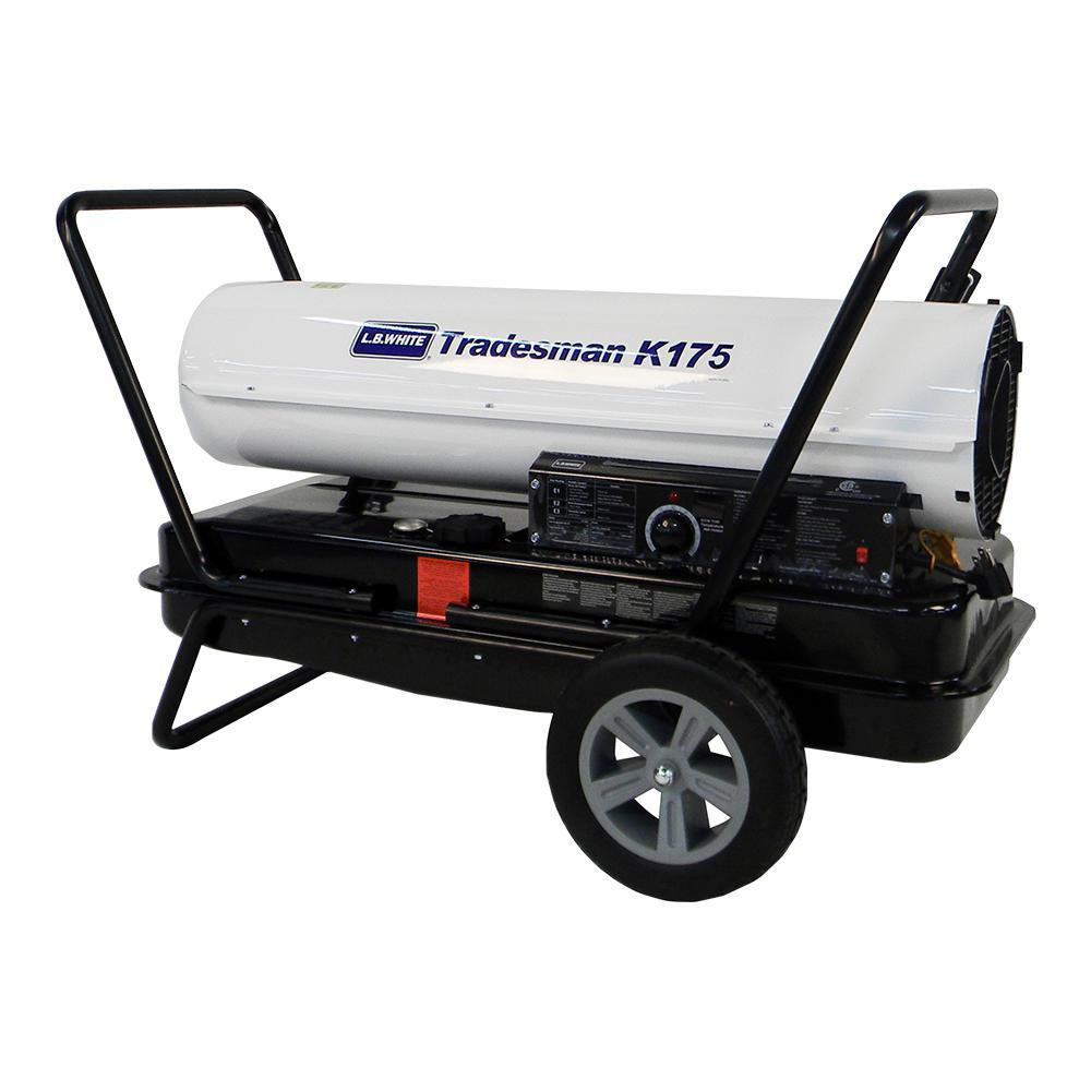 175,000 BTU Forced Air Portable Kerosene Heater