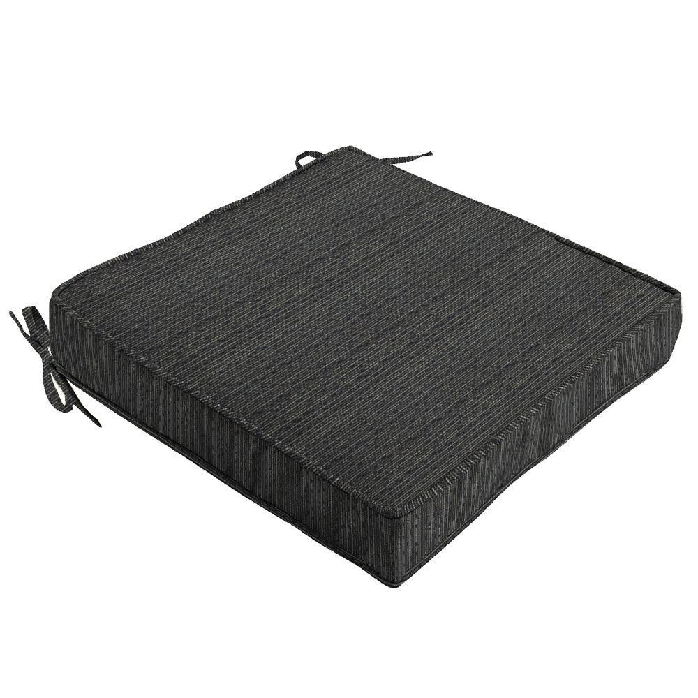 Hampton Bay Bentley Texture Quick Dry Outdoor Seat Cushion
