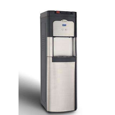 Bottom Loading Water Cooler, Ice Cold and Steaming Hot Water in Stainless Steel with Display
