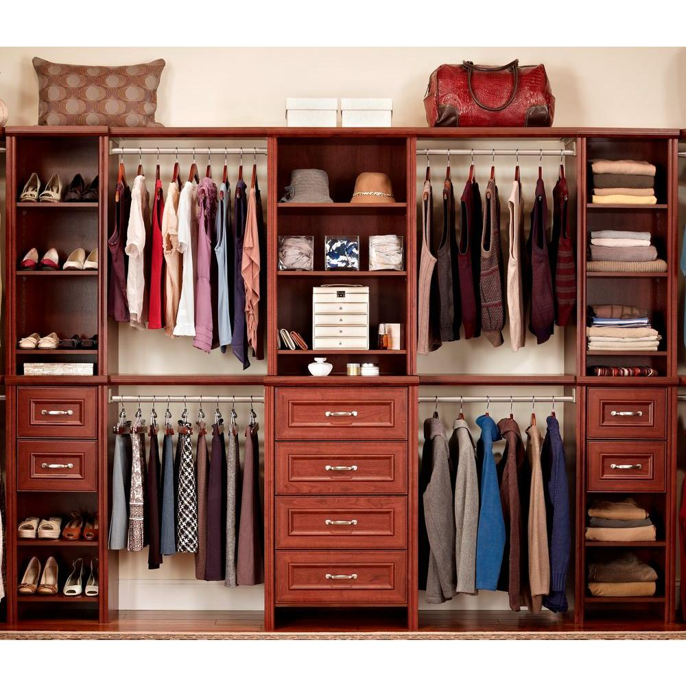 ClosetMaid Impressions 25 in. Dark Cherry Deluxe Hutch Closet Kit ...