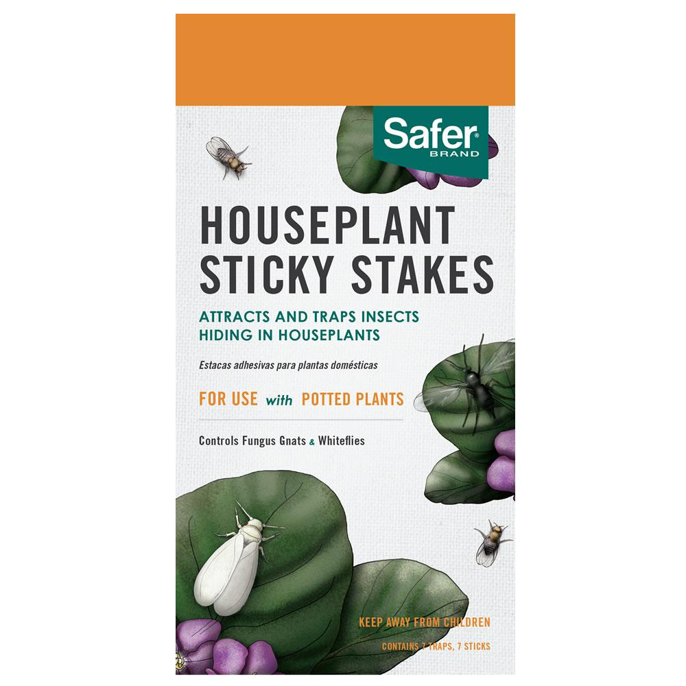 Safer Brand Houseplant Sticky Stakes (7-Pack)-5026 - The Home Depot