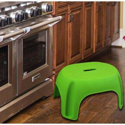 8.5 in. Green Plastic Step Stool