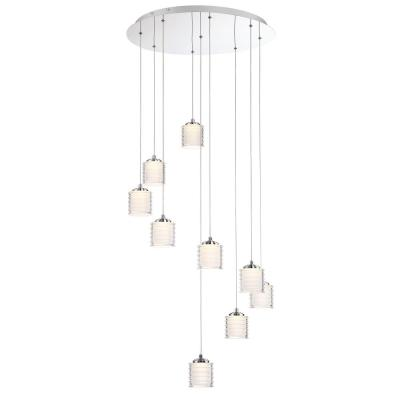Ancona Collection 49.5-Watt Chrome Integrated LED Chandelier with Clear Glass Shade