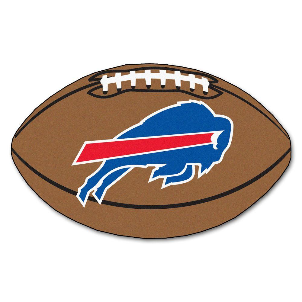 11e39f7a FANMATS NFL Buffalo Bills Brown 2 ft. x 3 ft. Specialty Area Rug