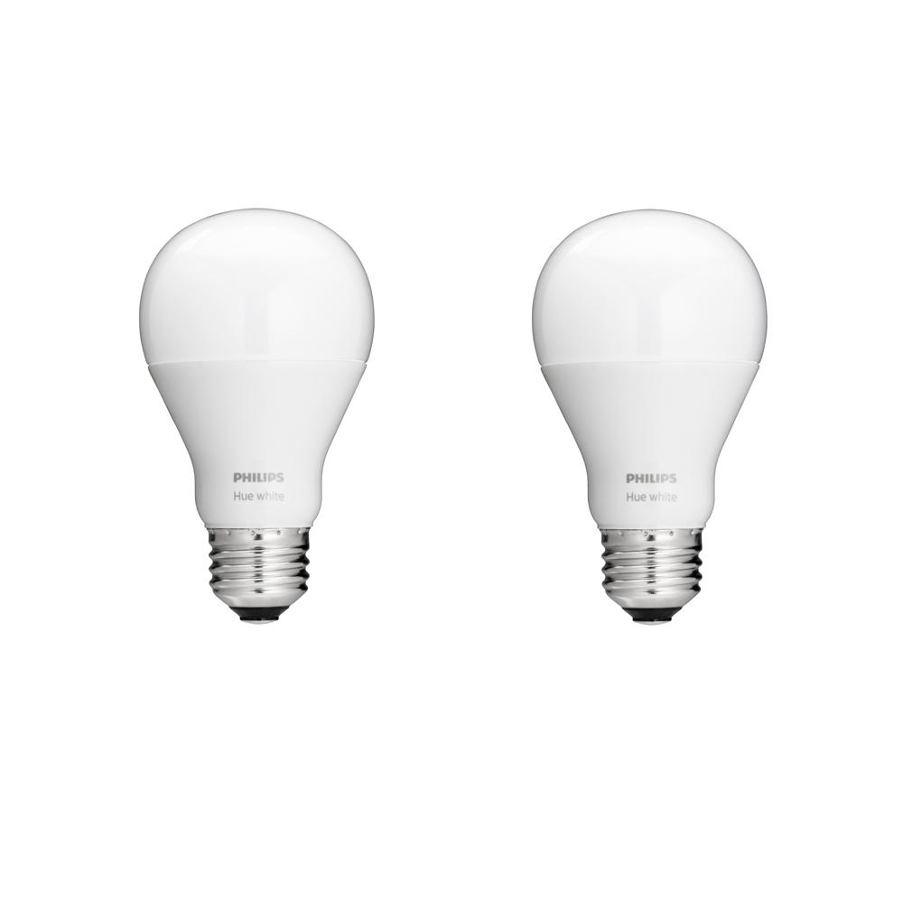 Philips 60W Equivalent Soft White (2700K) A19 Connected Home LED Energy Star Light Bulb Starter Kit with Dimmer Switch