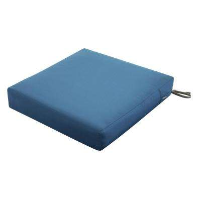 Ravenna Empire Blue 25 in. W x 25 in. D x 5 in. T Deep Seating Outdoor Lounge Chair Cushion