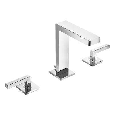 Duro 8 in. Widespread 2-Handle Low Flow Bathroom Faucet with Drain Assembly in Polished Chrome