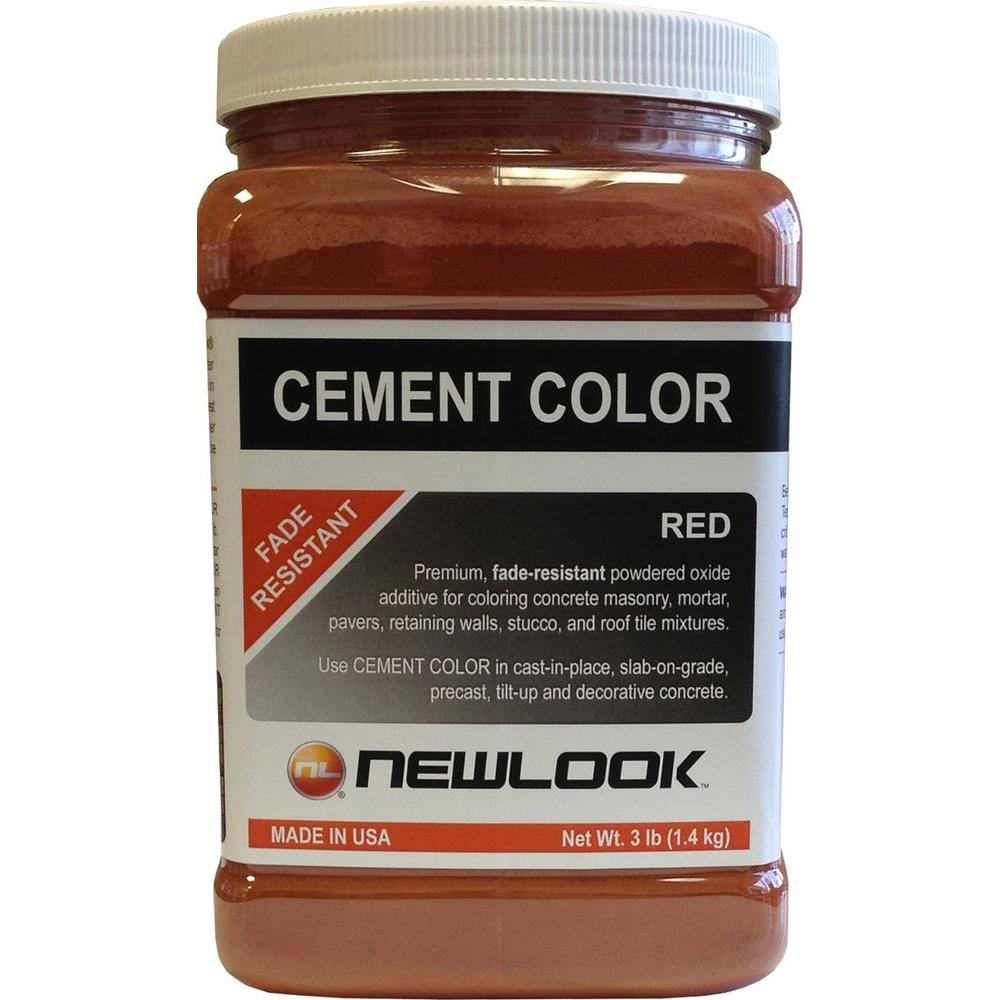 NewLook 3 lb. Red Fade Resistant Cement Color-CC3LB105 - The Home Depot