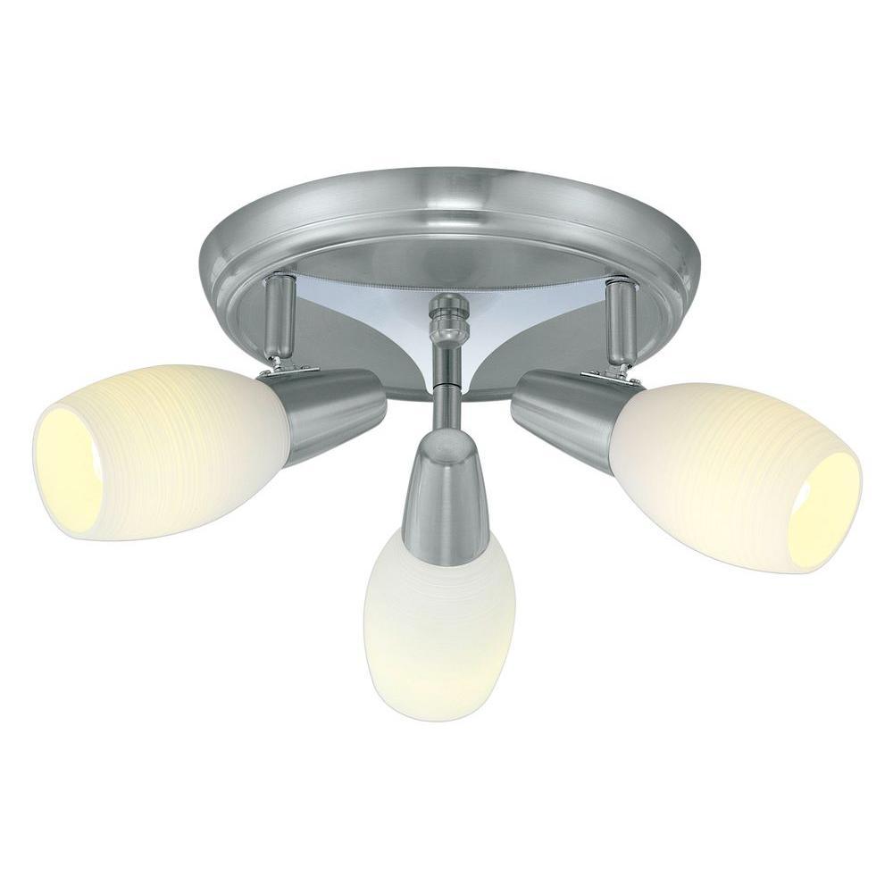 Parma 3-Head Matte Nickel Ceiling Lighting Fixture