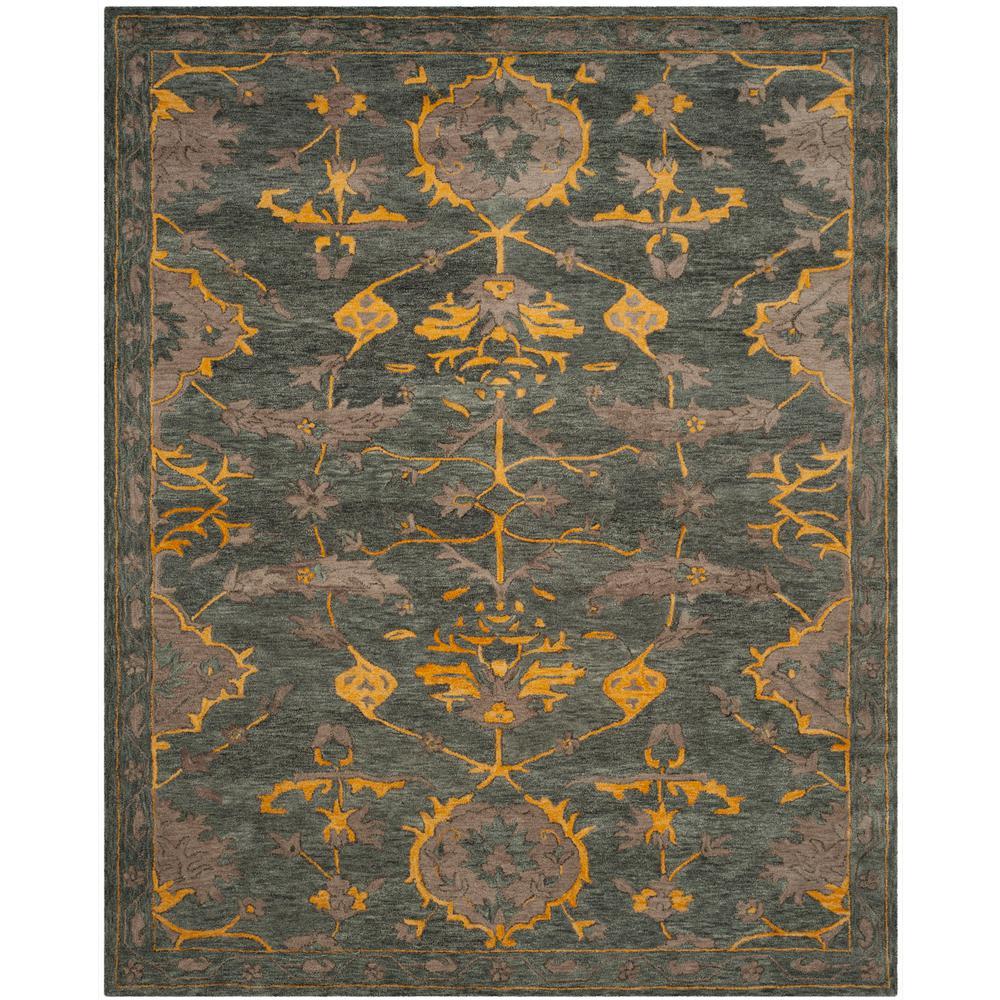 safavieh antiquity grey blue beige 8 ft x 10 ft area rug at822a 810 the home depot. Black Bedroom Furniture Sets. Home Design Ideas
