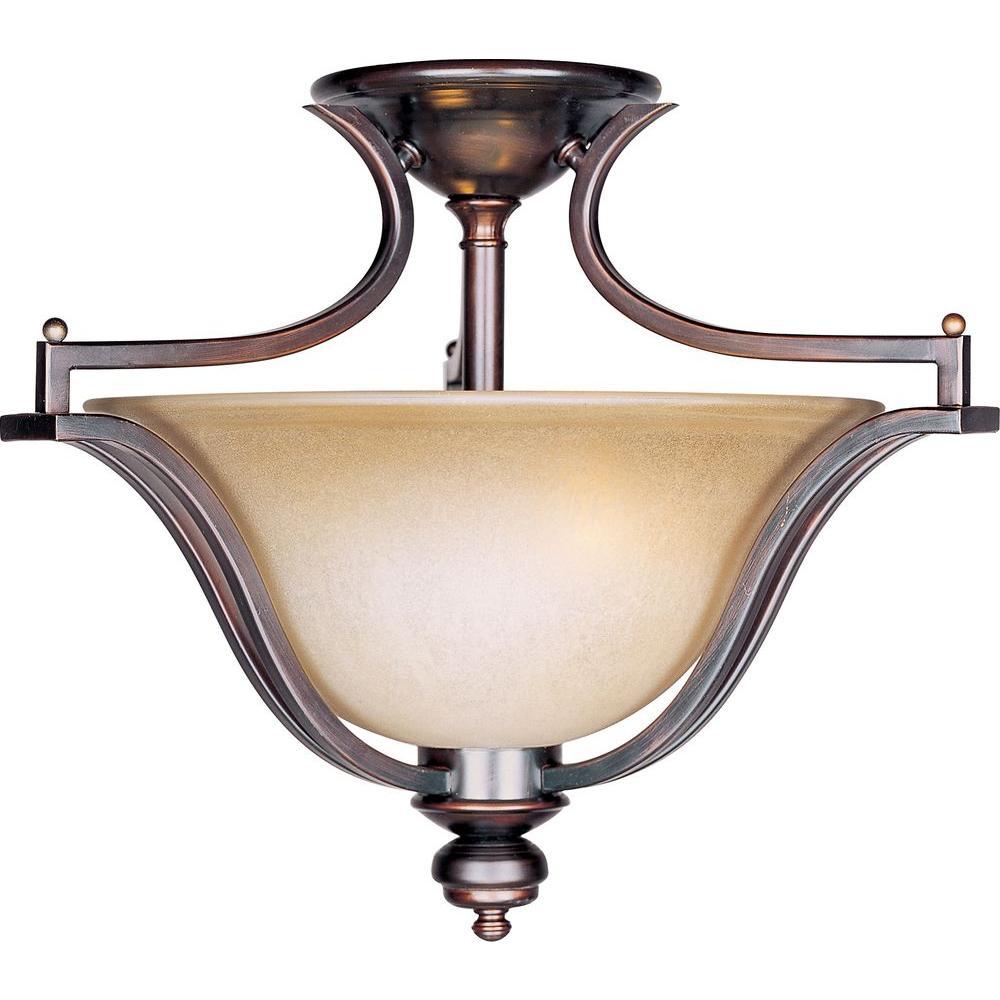 Maxim Lighting Madera 3-Light Oil-Rubbed Bronze Semi-Flush Mount Light Maxim Lighting Madera 3-Light Oil-Rubbed Bronze Semi-Flush Mount Light