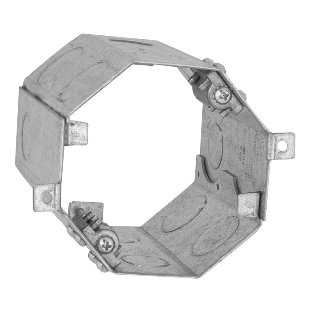 RACO 4 in. Octagon Welded Concrete Ring, 4 in. Deep with 1/2 and 3/4 in. Knockouts (6-Pack)