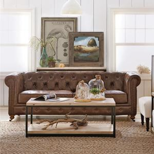 Surprising Home Decorators Collection Gordon Brown Leather Sofa Bralicious Painted Fabric Chair Ideas Braliciousco