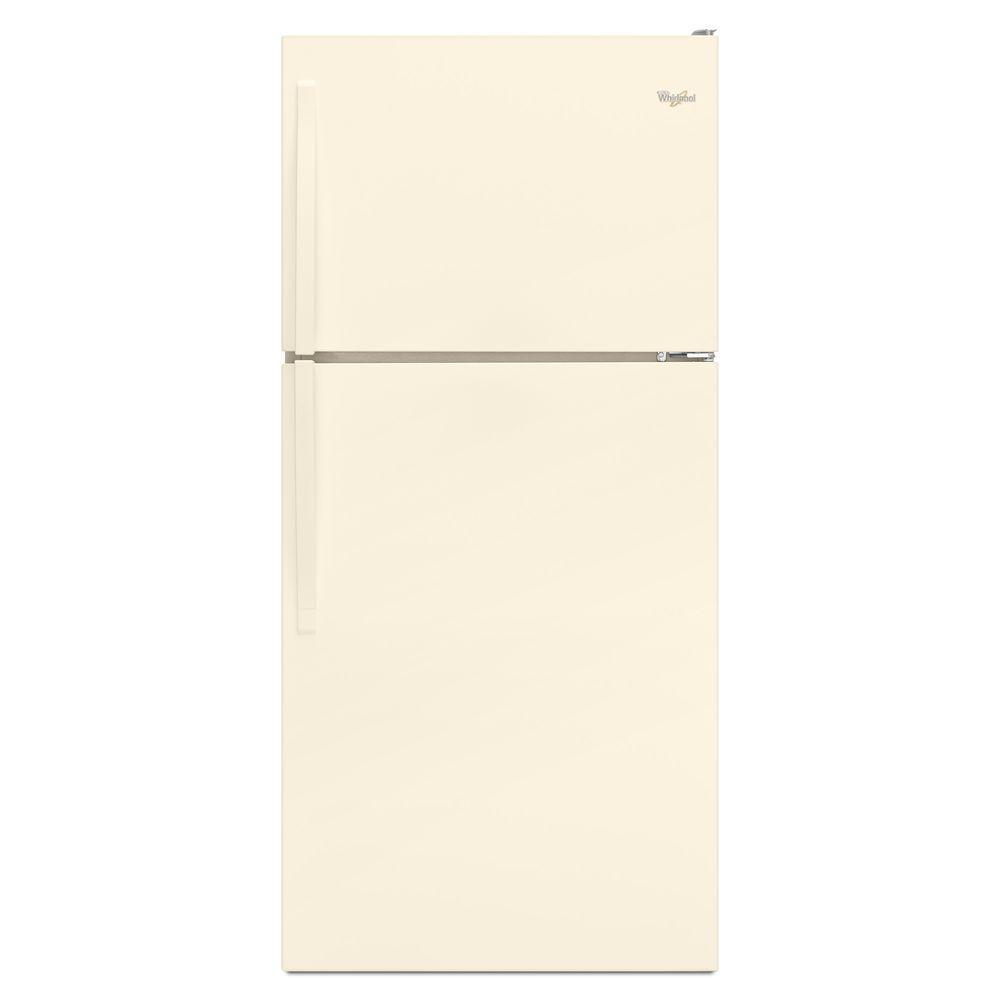 Whirlpool 30 in. W 18.2 cu. ft. Top Freezer Refrigerator in Biscuit