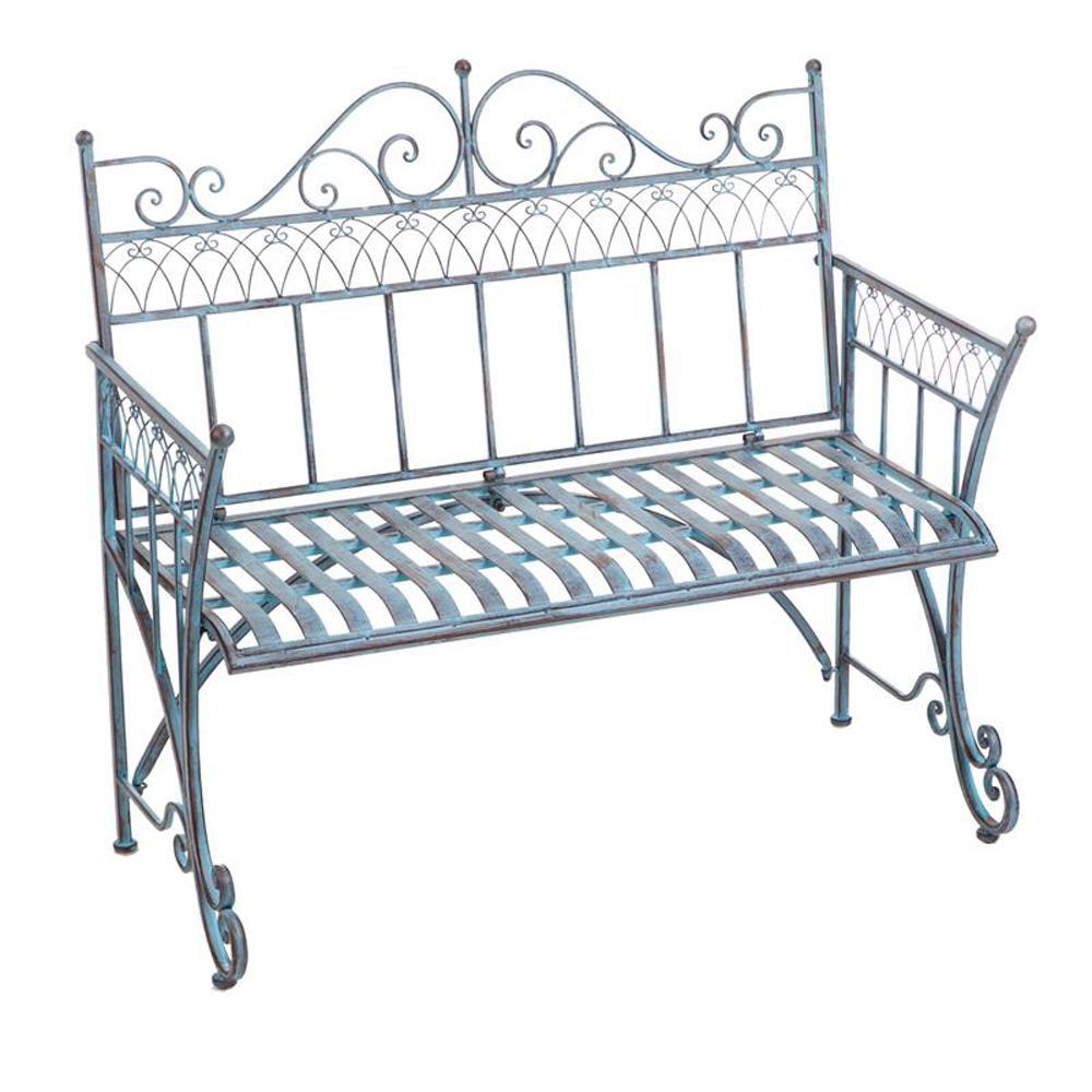 Cape Craftsman 39 in. Victorian Metal Outdoor Garden Bench