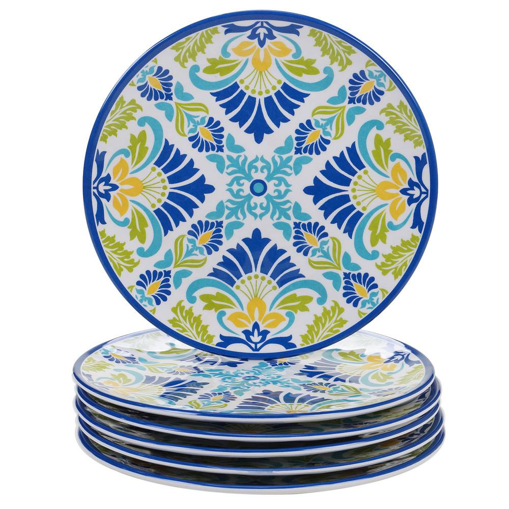 Martinique Multicolor Salad Plate (Set of 6)
