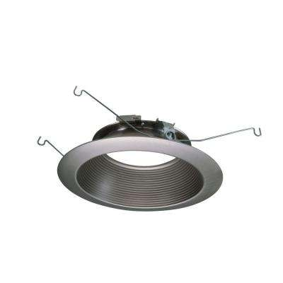 ML 6 in. Satin Nickel LED Recessed Ceiling Light Attachable Module Baffle Trim
