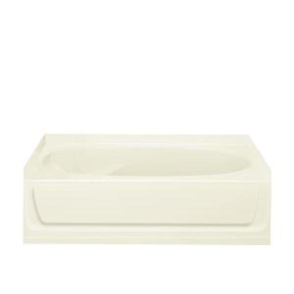 Ensemble 60 in. Vikrell Right Drain Rectangular Alcove Bathtub in Biscuit