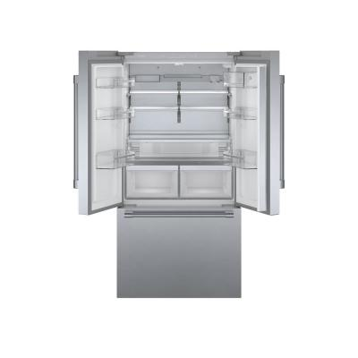 800 Series 36 in 21 cu ft French Door Refrigerator in Stainless Steel with Dual Compressor, Pro Handles, Counter-Depth