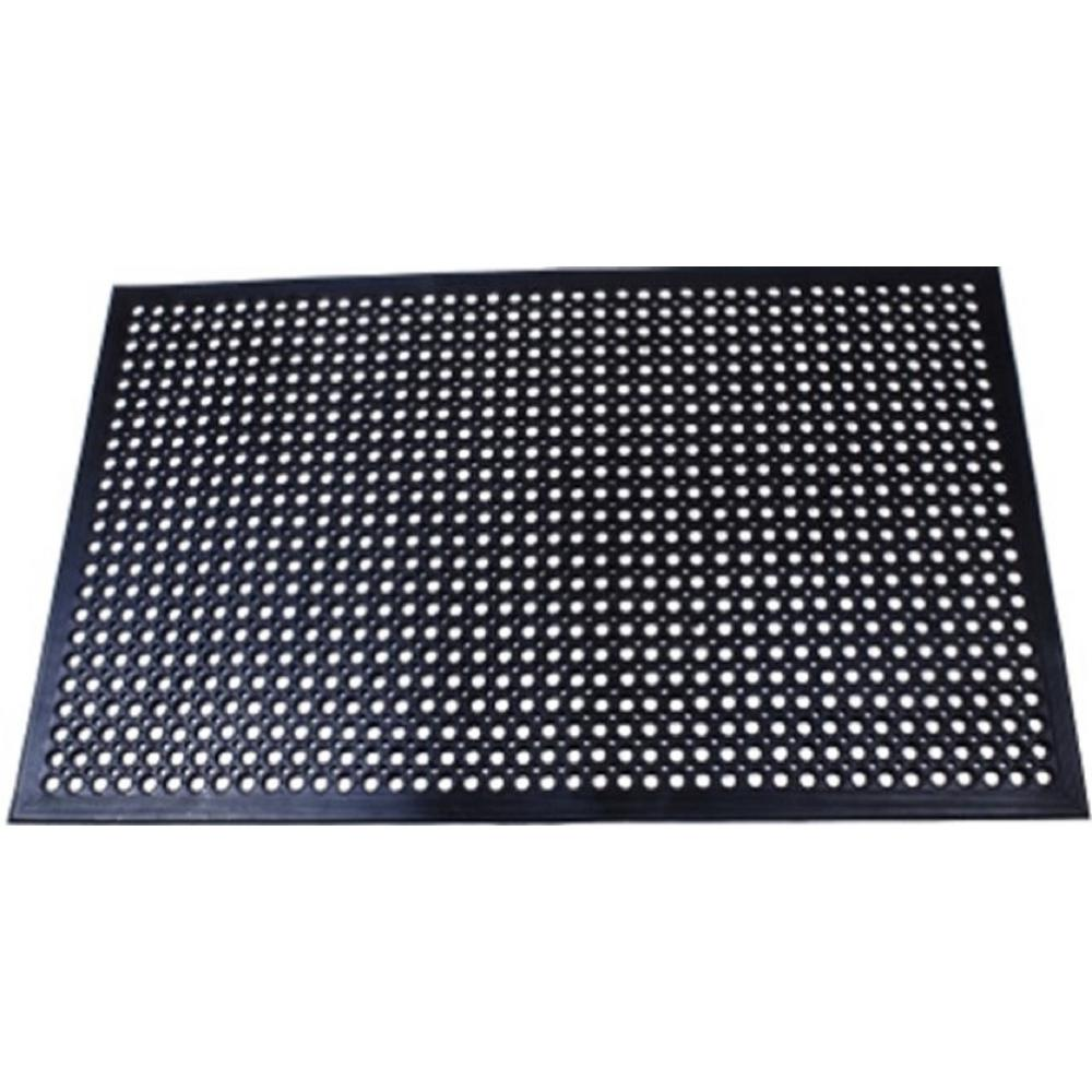 Superieur Comfort Mat Black 3 Ft. X 5 Ft. Rubber Kitchen Mat