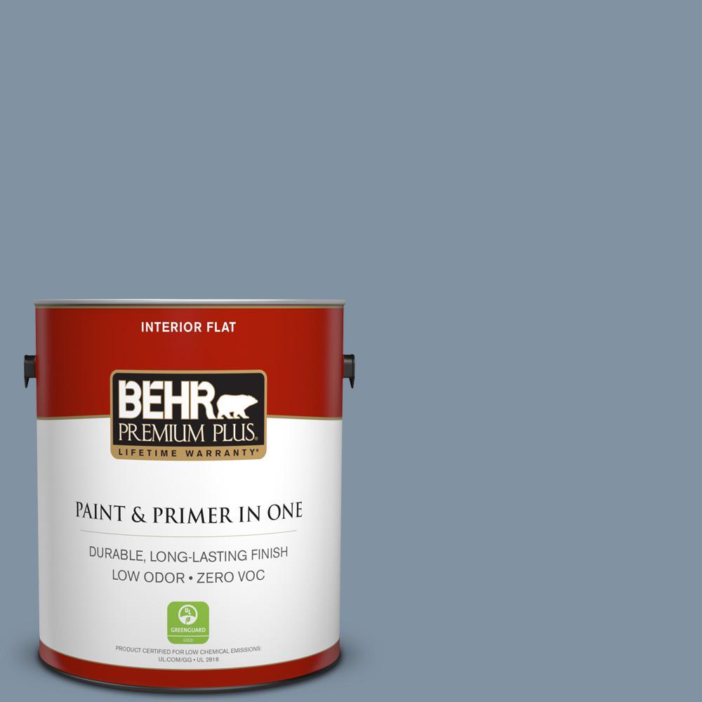 1 gal. #PPU14-06 Coastal Vista Zero VOC Flat Interior Paint