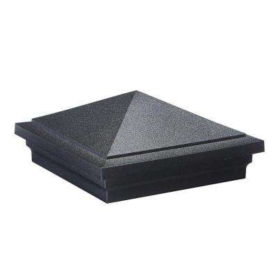 ArmorGuard 5 in. x 5 in. Black Plastic Pyramid Matte Post Sleeve Cap