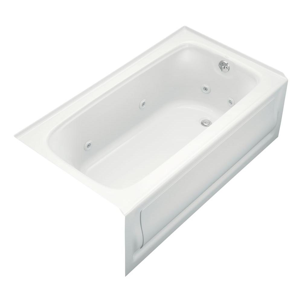 Bancroft 5 ft. Acrylic Right Drain Rectangular Alcove Whirlpool Bathtub in