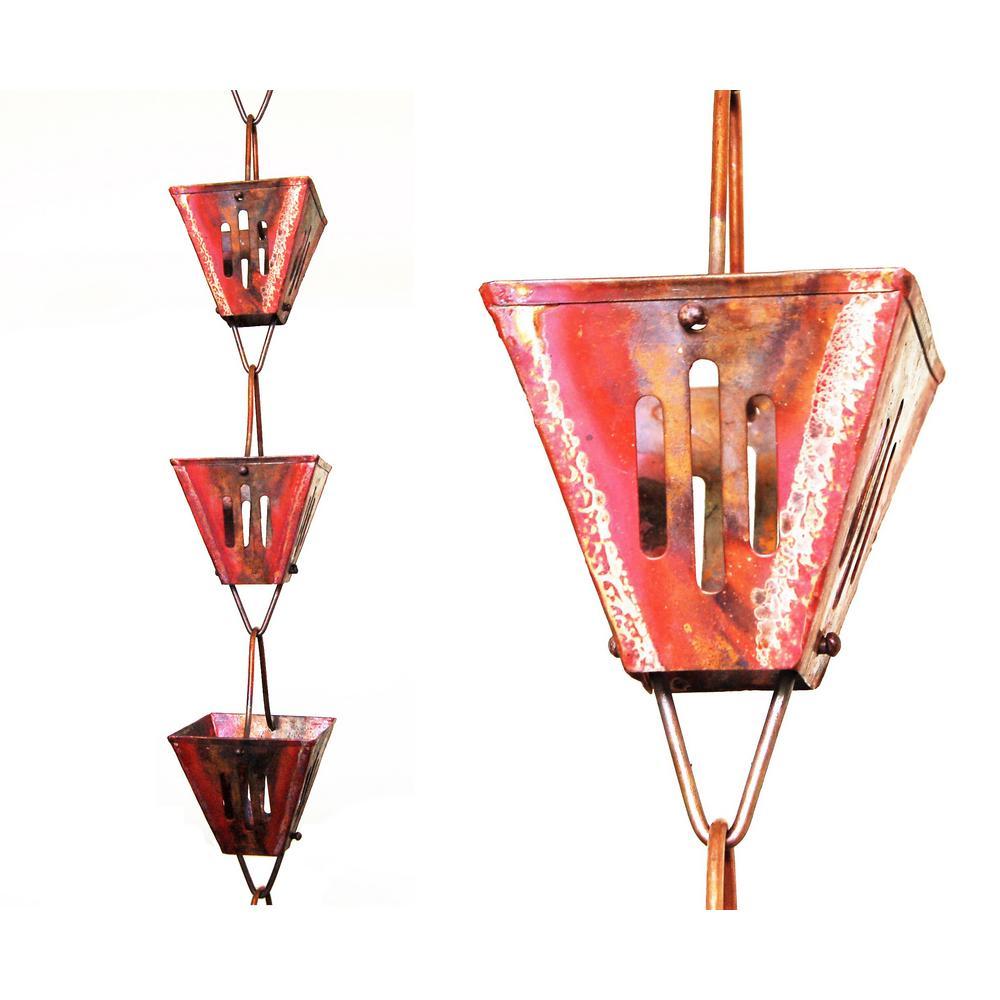 8.5 ft. Pure Copper Slotted Square Rain Chain