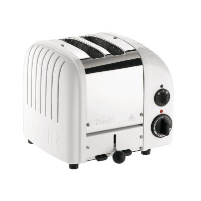 Dualit-New Gen 2-Slice White Wide Slot Toaster with Crumb Tray