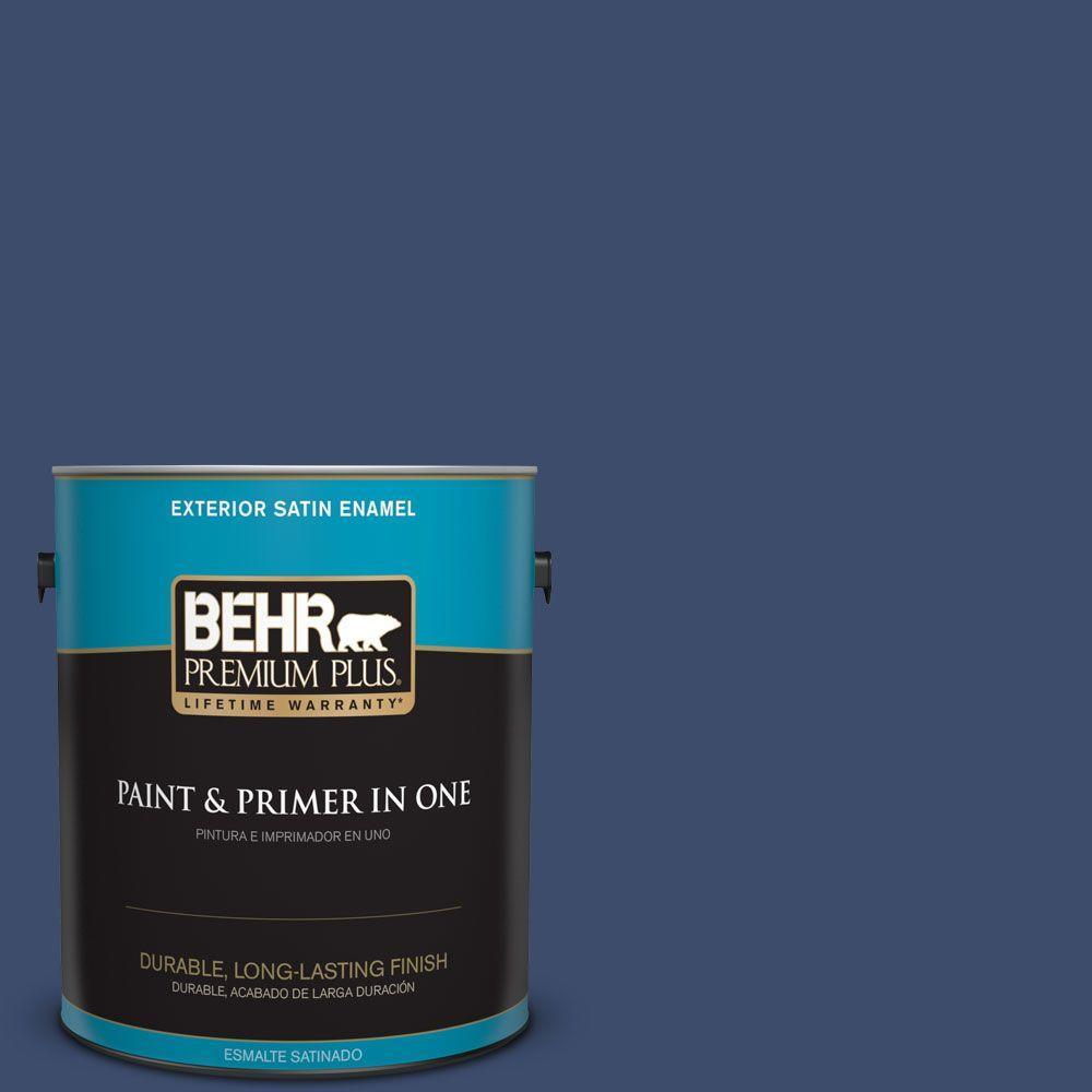 1 gal. #HDC-SM16-08 Blackberry Cobbler Satin Enamel Exterior Paint