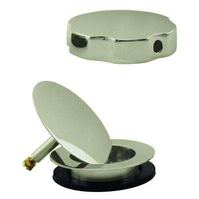 Replacement Drain and Handle for Cable Drive Drains, Satin Nickel
