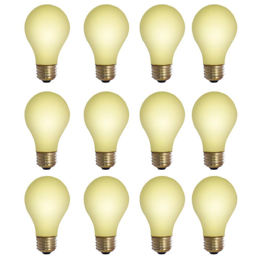 40-Watt A19 Yellow Bug Dimmable Incandescent Light Bulb (12-Pack)
