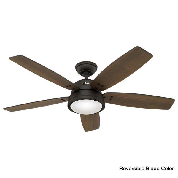 Hunter Channelside 52 In Led Indoor, Ceiling Fans Outdoor With Remote