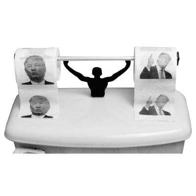 Donald Trump Toilet Paper in Multi-Color with Strong Man Holder Political Gift Set