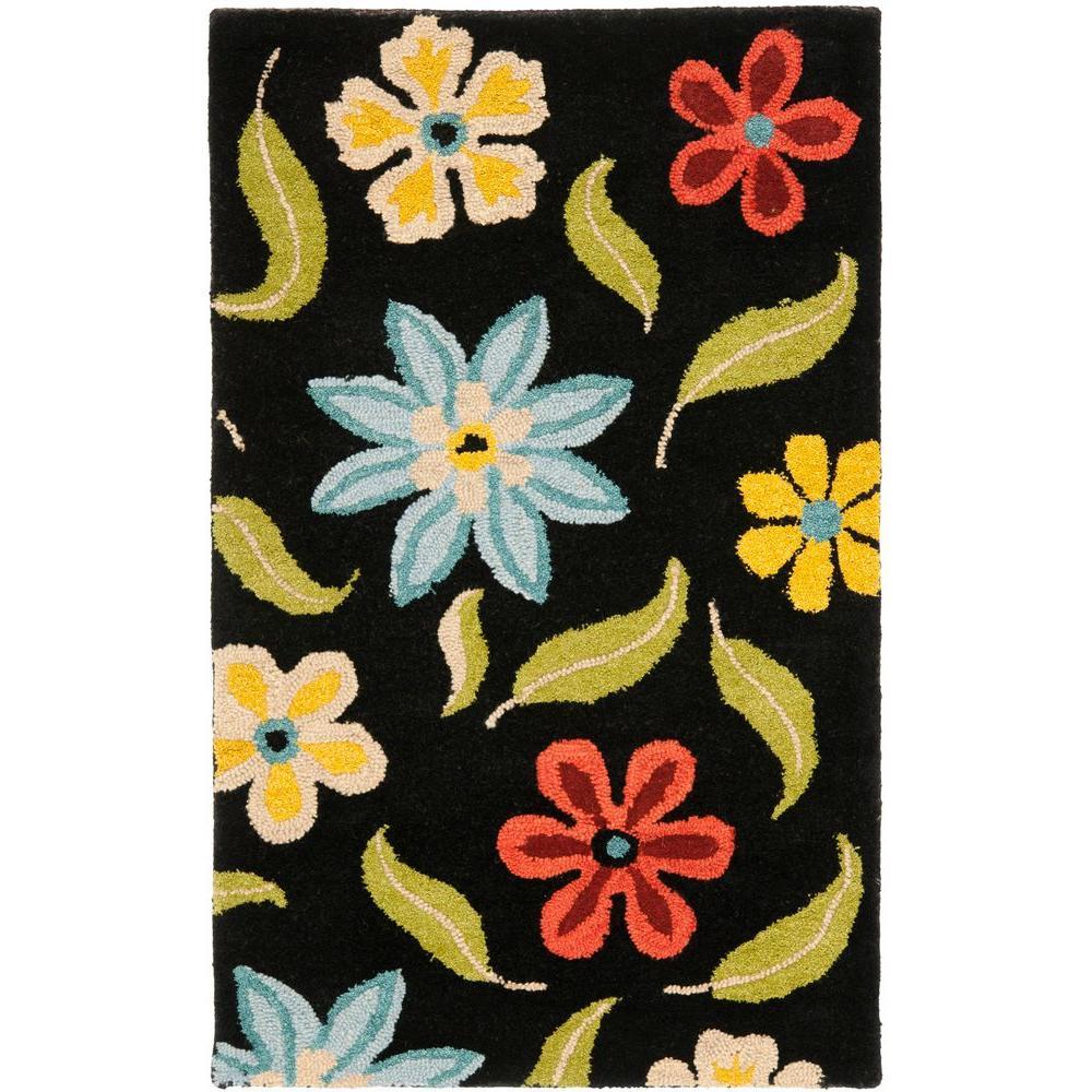 Safavieh Blossom Black/Multi 3 ft. x 5 ft. Area Rug
