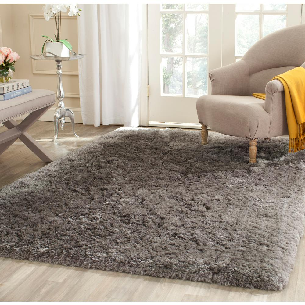 Arctic Shag Gray 5 ft. x 7 ft. 6 in. Area