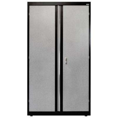72 in. H x 18 in. D x 36 in. W Modular Steel Combo Cabinet Full Pull in Black/Multi-Granite