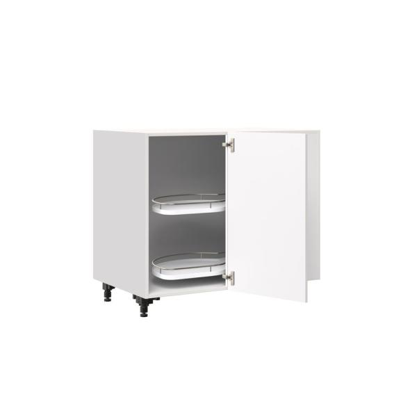 J Collection Shaker Assembled 39x34 5x24 In Blind Corner Base Cabinet With Lemans Pull Out Accessory In Vanilla White Bbcr39lc Ws The Home Depot