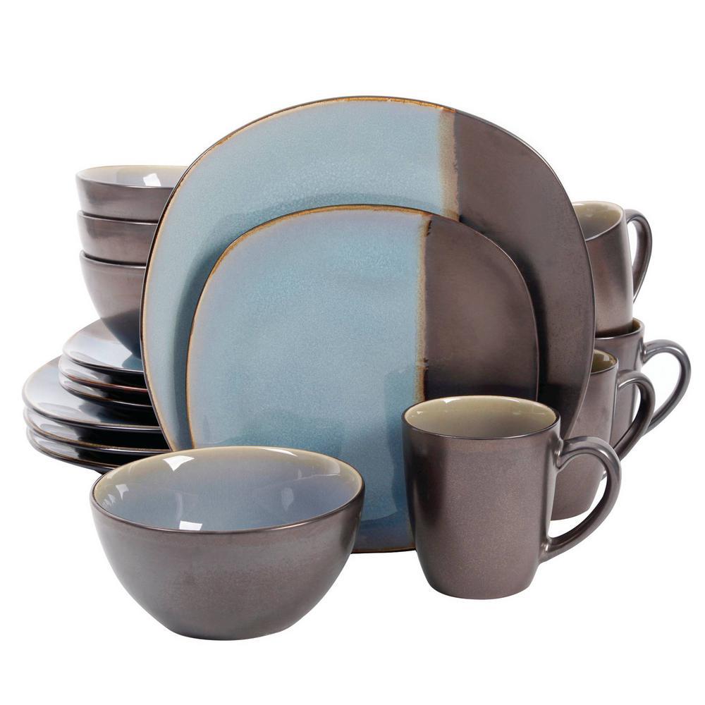 Volterra 16-Piece Teal Dinnerware Set