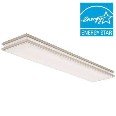 Brushed Nickel Linear Saturn LED Flushmount