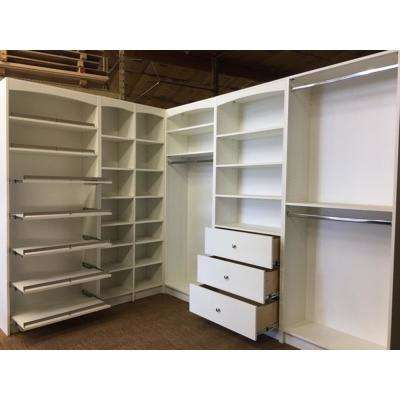 WalkIn 14 in. D x 159.5 in. W x 84 in. H White  sc 1 st  The Home Depot & White - Free Standing Cabinets - Closet Storage u0026 Organization ...