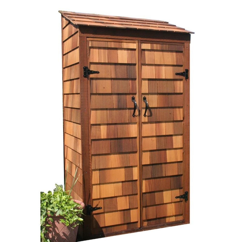 Greenstone 3 ft. x 2 ft. Cedar Garden Hutch Tool Shed