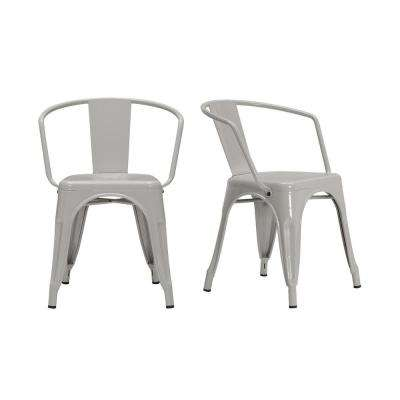 StyleWell Riverbed Brown Metal Dining Chair (Set of 2) (20.28 in. W x 28.35.95 in. H)