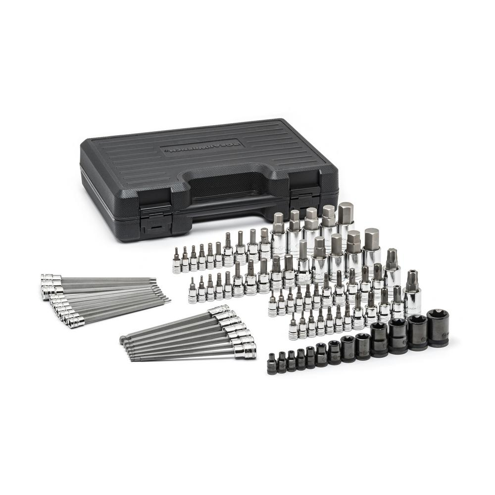 GearWrench Master SAE/Metric Hex and Torx Bit Socket Set (84-Piece)